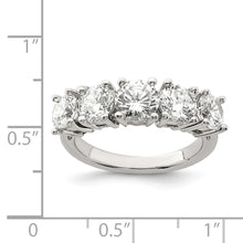 Load image into Gallery viewer, Sterling Silver 5-Stone Cubic Zirconia Ring