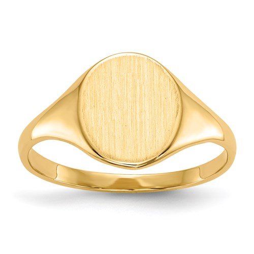 Aphrodite 14ct Gold Open Back Signet Ring