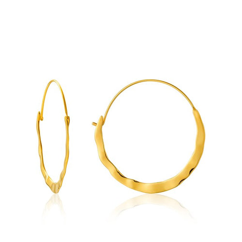 Santorini Hoops in Gold