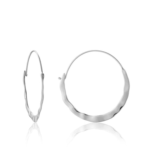 Santorini Hoops in Silver