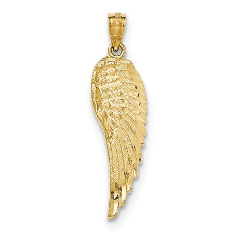 14k Gold Angel Wing Pendant