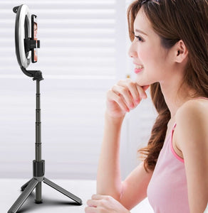 Bluetooth Selfie Stick with Ring Light