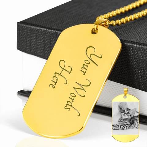 Personalized necklace: gift for cat lovers