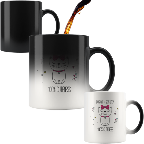50/50 Cat Lady MAGIC Cat Coffee Mug