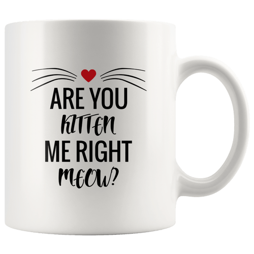 Are You Kitten Me Cat Mug
