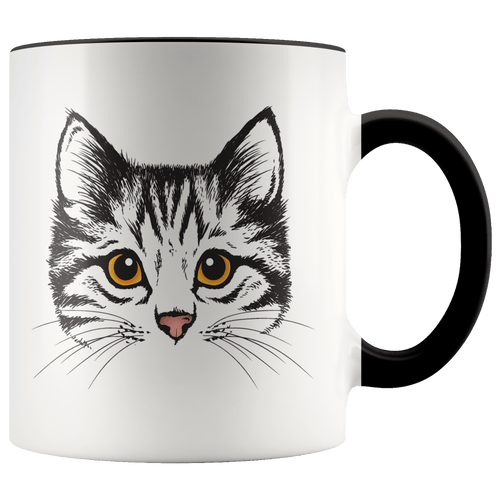 Cute Cat Accent Cat Mug