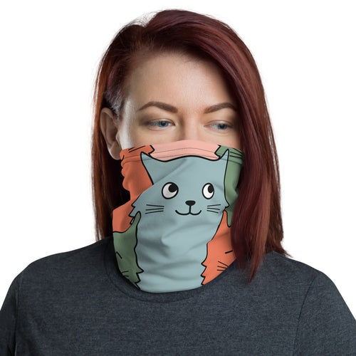 Neck Gaiter and Face Mask for Cat Lovers