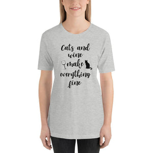 Cat and Wine Shirt-Gift for Cat Lovers-Sweetcatito