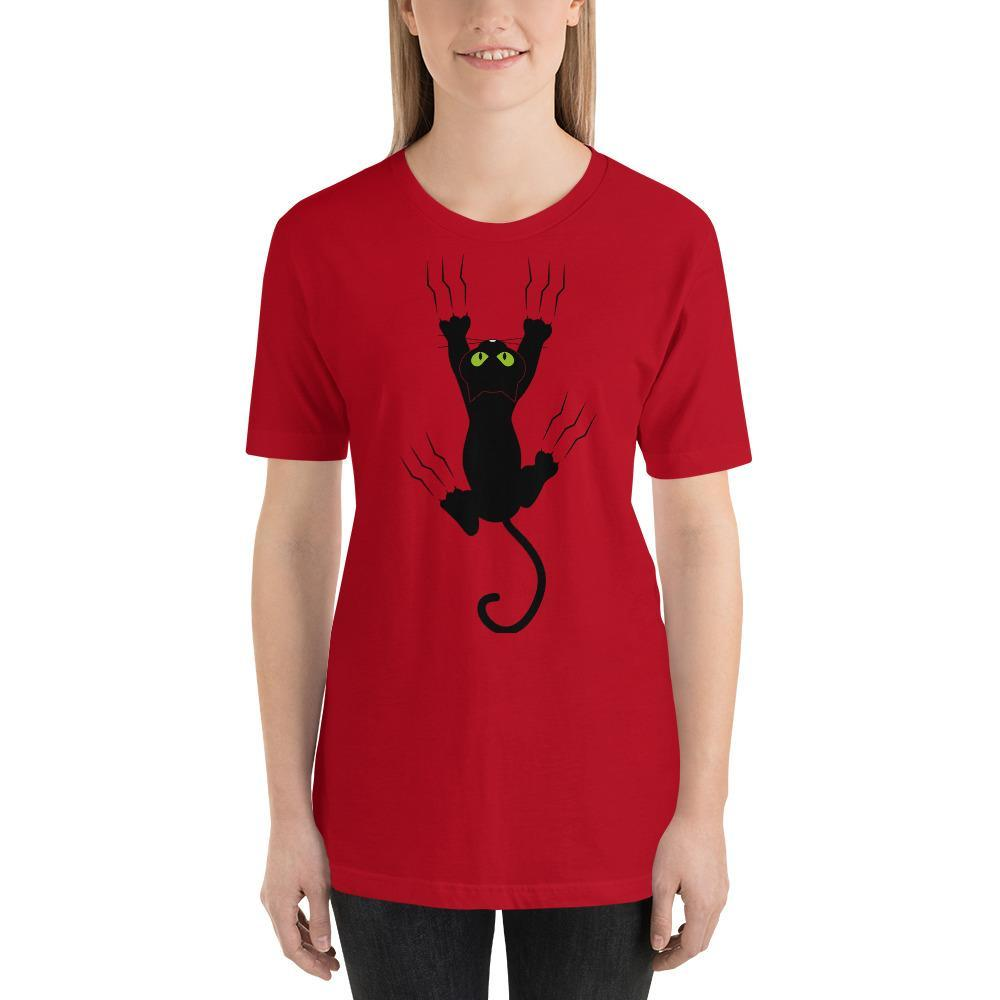 Black Cat Shirt with Claw Marks-Gift for Cat Lovers-Sweetcatito