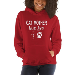 Cat Mother Wine Lover Hoodie-Gift for Cat Lovers-Sweetcatito