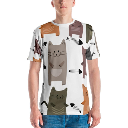 Cats and Fish Bone All-over Shirt