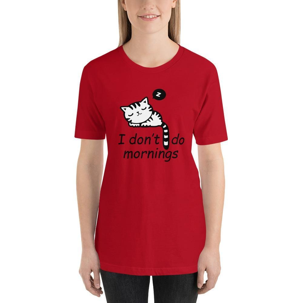 I Don't Do Mornings Car Shirt-Gift for Cat Lovers-Sweetcatito
