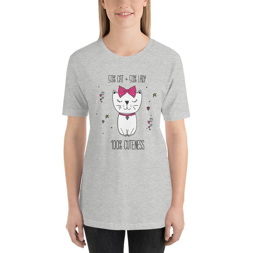 50/50 Cat Lady T-Shirt-Gift for Cat Lovers-Sweetcatito
