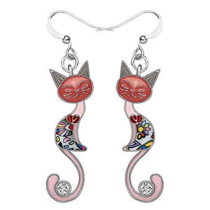 Sweet Catito Enamel Cat Earrings-Cat earring-Gift for Cat Lovers-Sweetcatito