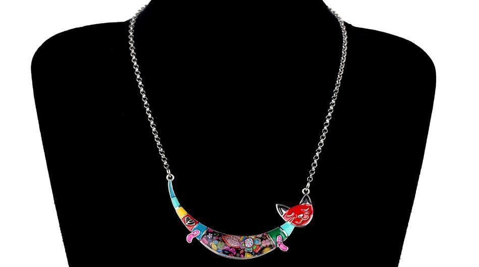 Sweet Cat Enamel Necklace-Cat necklace-Gift for Cat Lovers-Sweetcatito