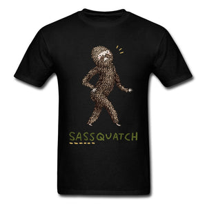 Sassy Sassquatch Tee Funny Cartoon Printed