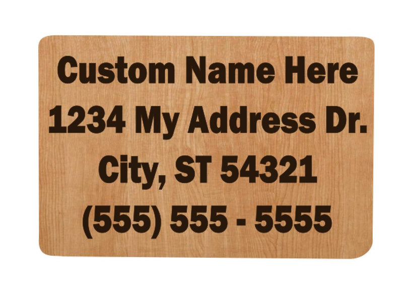 Custom Address  & Phone Number Puzzle