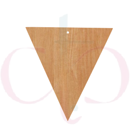 Inverted Triangle- Unfinished Wood Earrings