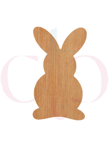 Rabbit  Shape Wood Cut Out (2 Options)
