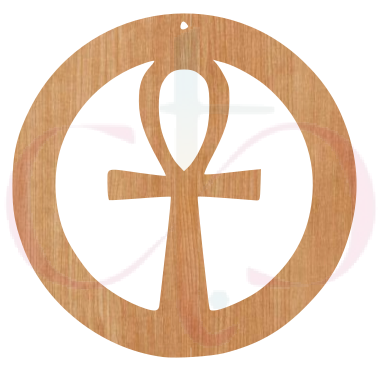 Ankh Design (2 options)- Unfinished Wood Earrings