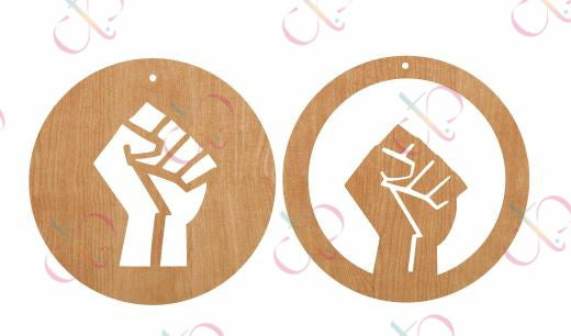 Fist Circle (2 options)- Unfinished Wood Earrings