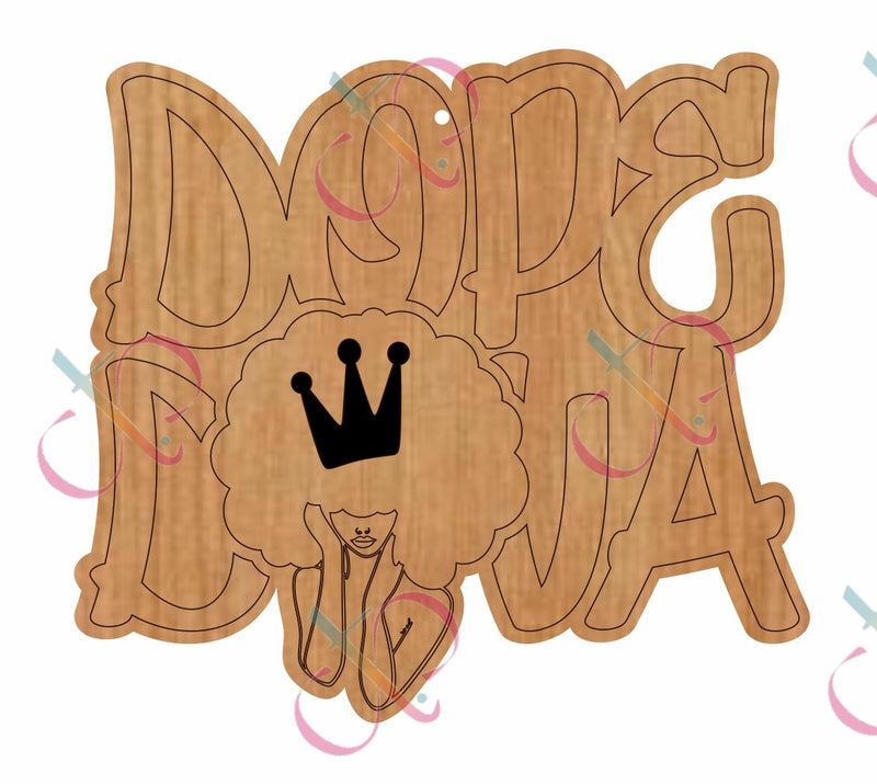 Dope DIVA- Unfinished Wood Earrings