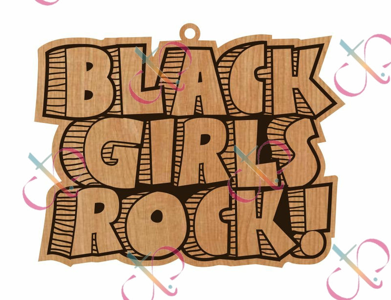 Black Girls Rock- Unfinished Earrings