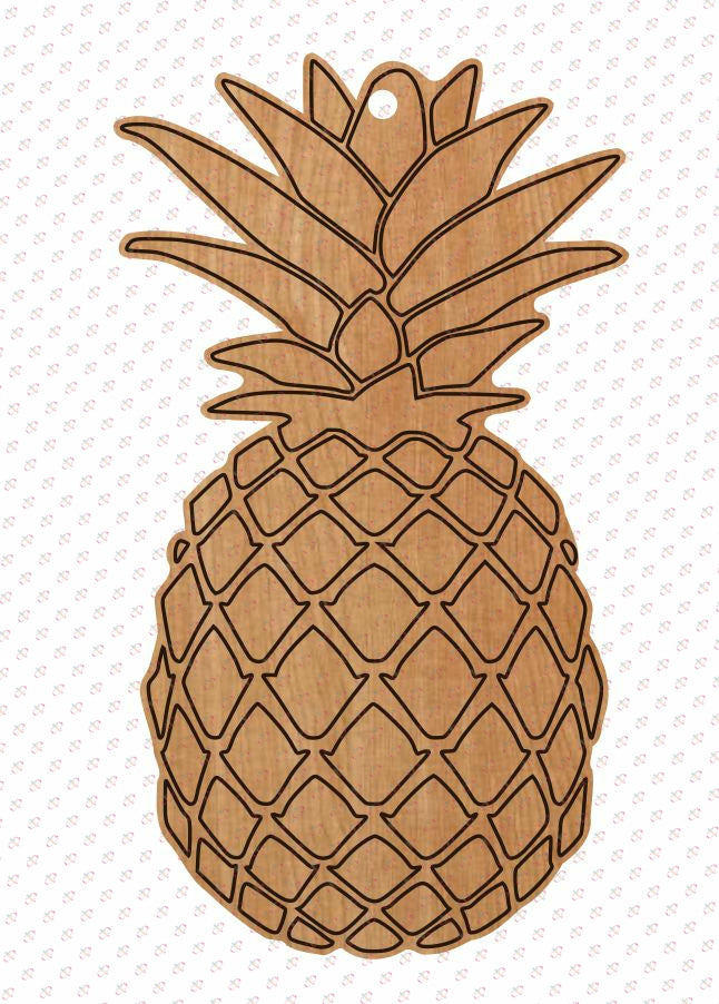 Pineapple Design- Unfinished Wood Earring