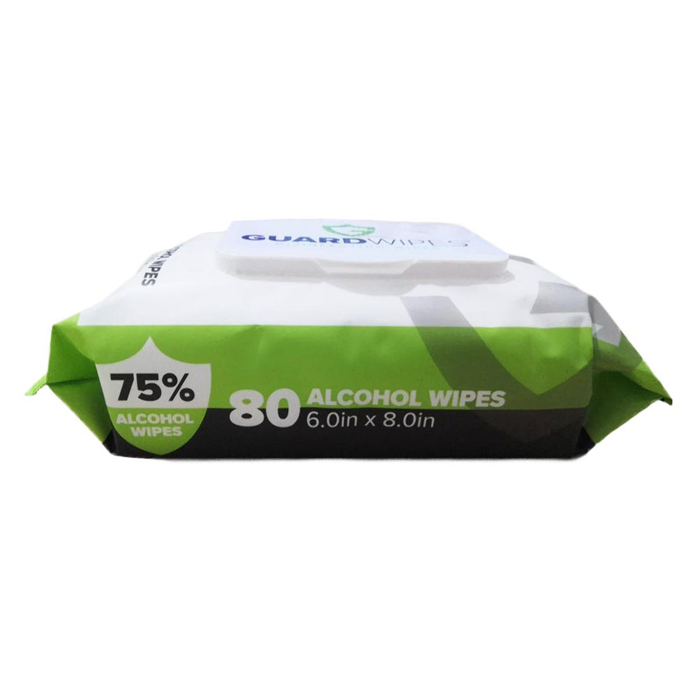 80 Alcohol Wipes in Reseal Pouch (Minimum Order 24)