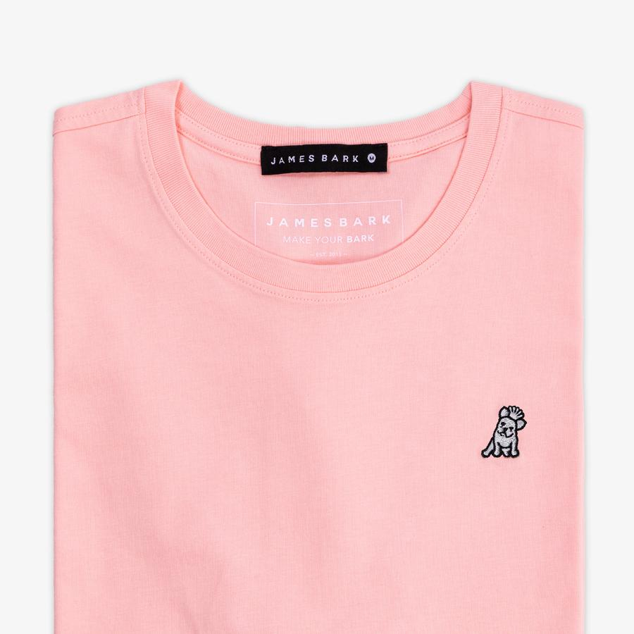Men's Seashell Pink Crew Neck Jersey T-Shirt