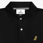 Men's Gold Edition Regular Fit Polo Shirt in Black