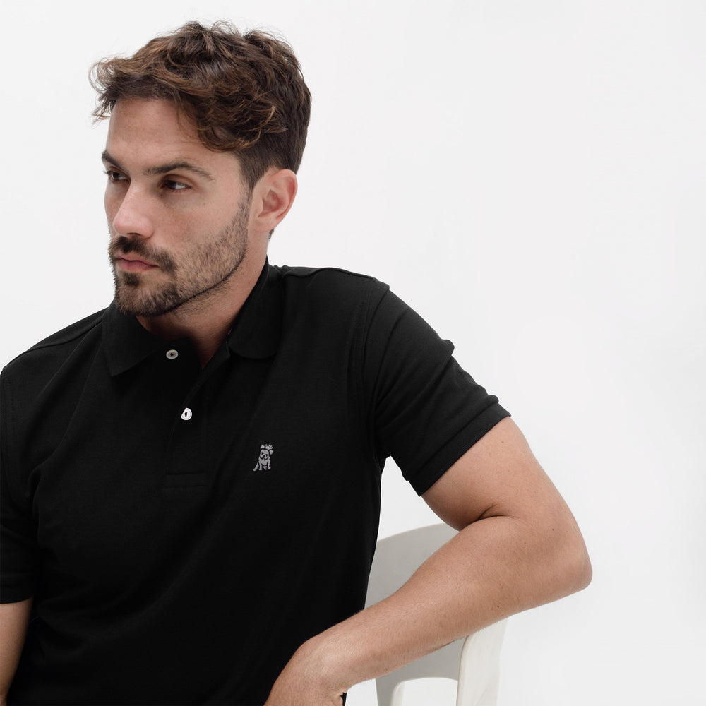 Men's Black Regular Fit Polo Shirt