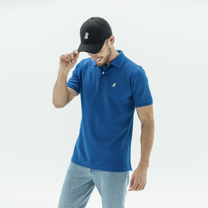 Men's Gold Edition Regular Blue Fit Polo Shirt