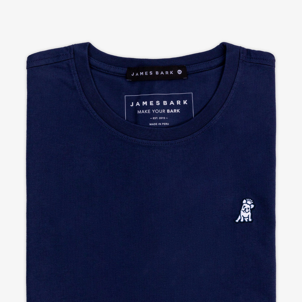 Men's Navy Crew Neck Jersey T-Shirt