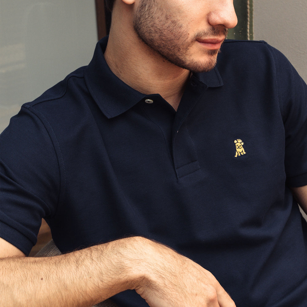Men's Gold Edition Regular Fit Polo Shirt in Navy
