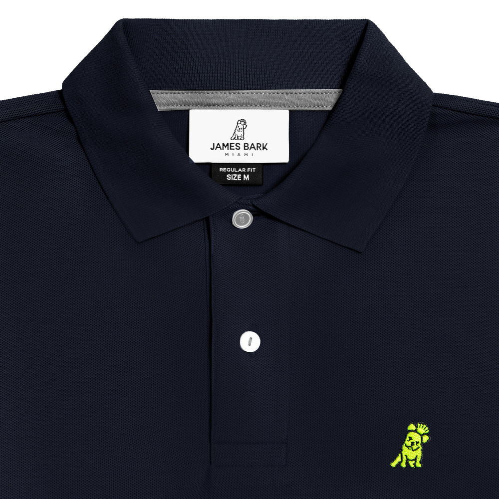Men's Neon Edition Regular Fit Polo Shirt in Navy