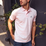 Men's Pink Classic Regular Fit Polo Shirt