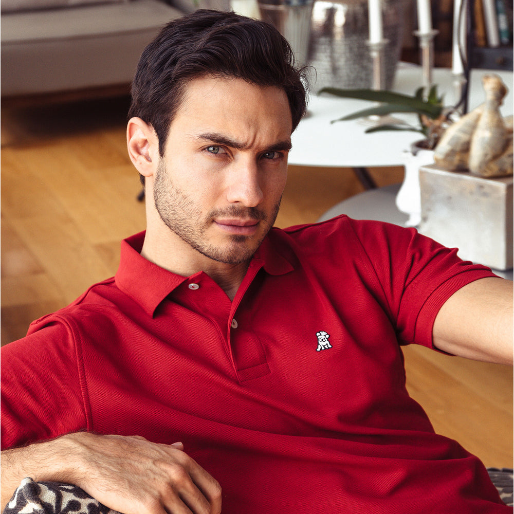Men's Red Regular Fit Polo Shirt