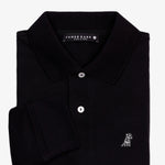 Men's Black Long Sleeve Polo Shirt