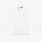 Men's White Long Sleeve Polo Shirt