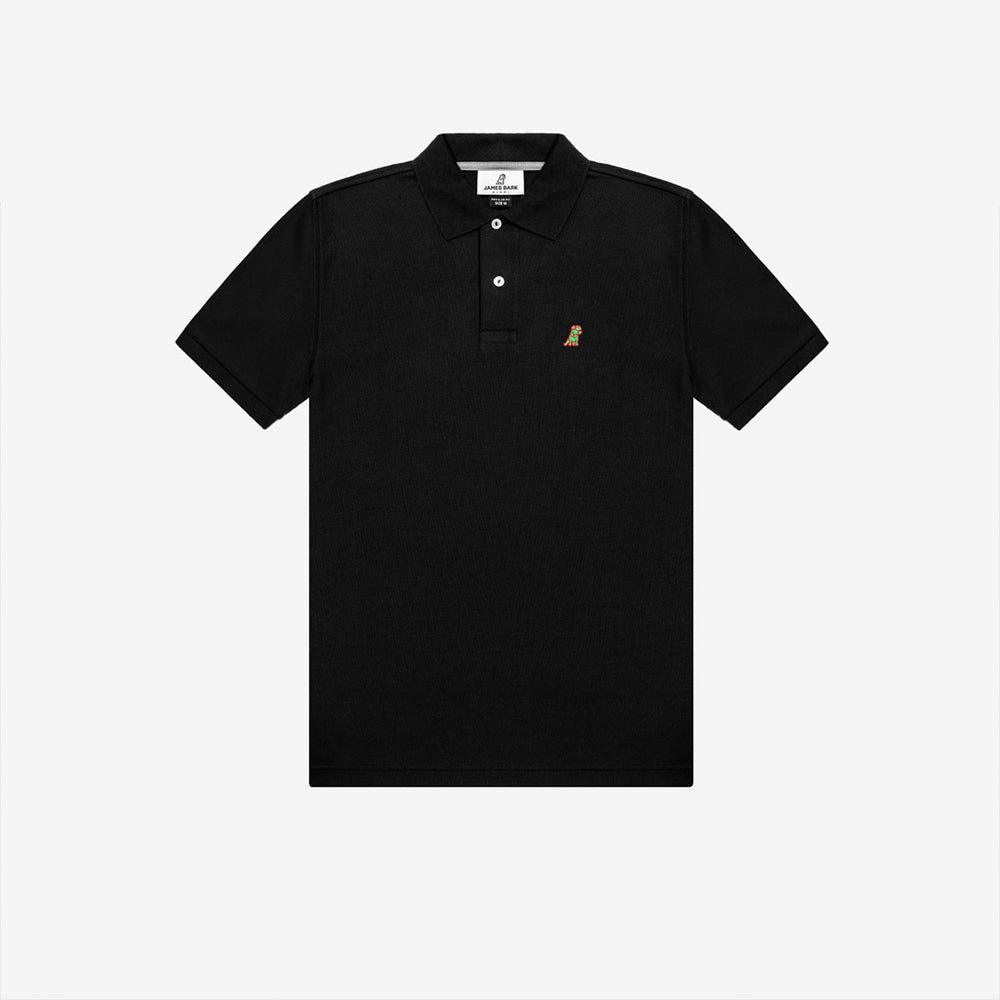 Men's Neon Edition Regular Fit Polo Shirt in Black