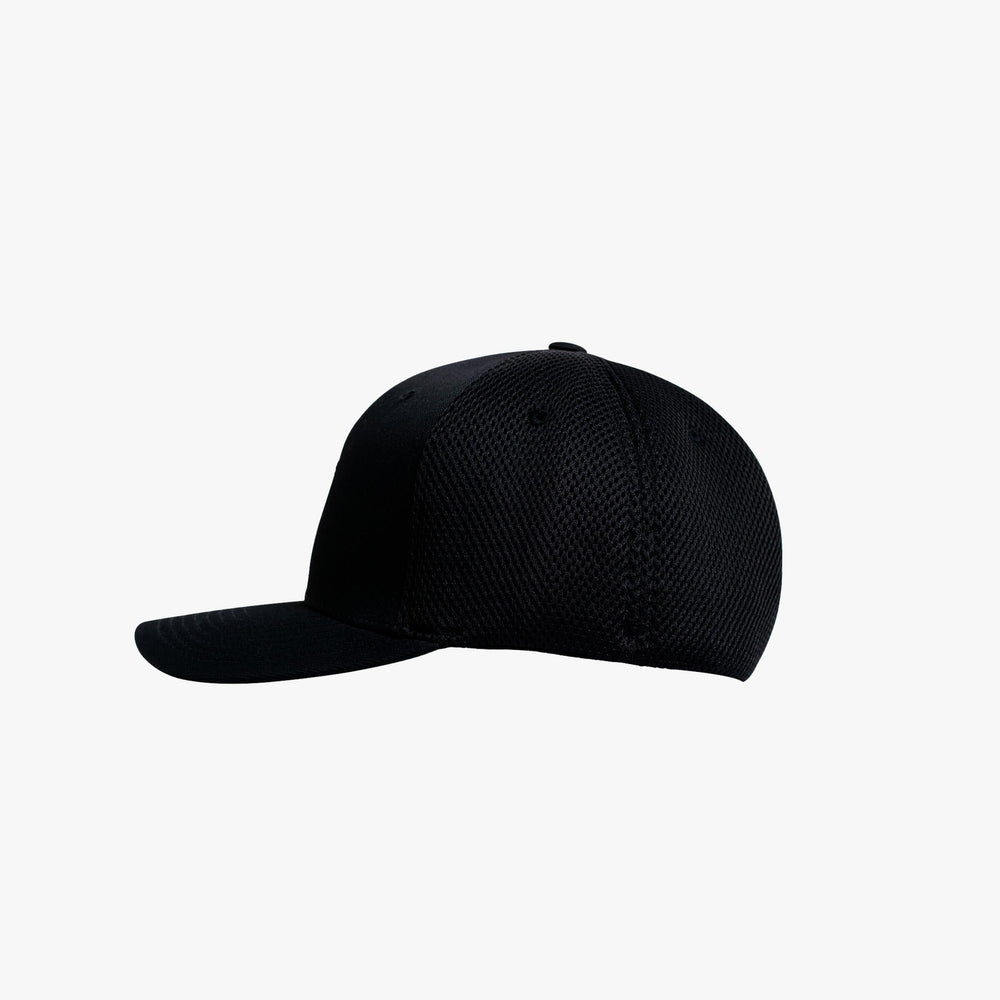 Unisex Black Ultrafiber Cap Red Neon Edtion