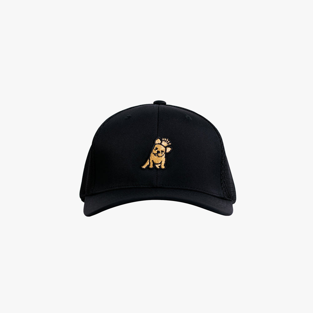 Unisex Black Ultrafiber Cap Gold Edition