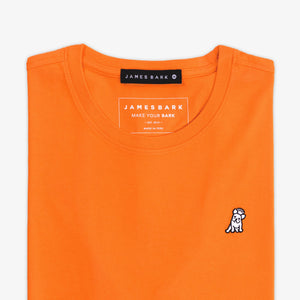 Men's Mandarin Red Crew Neck Jersey T-shirt