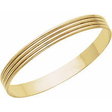 Load image into Gallery viewer, Grooved Bangle Bracelet 14K