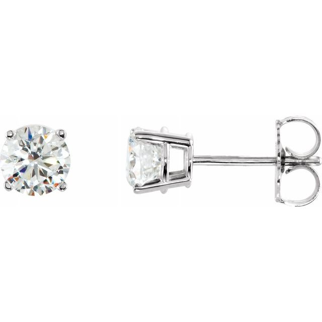 Swarovski and Sterling Silver 4 Prong Studs