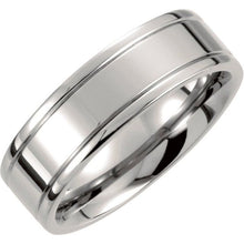 Load image into Gallery viewer, Men's Titanium Grooved Band