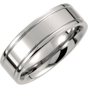 Men's Titanium Grooved Band