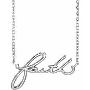 Faith Necklace 16""