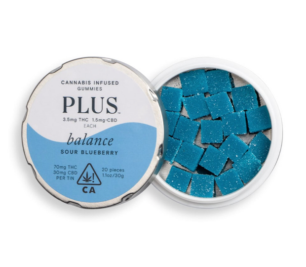 PLUS | Balance Sour Blueberry Gummies